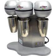 Batedor de Milk-Shake Triplo 3x0,8L Copo Inox Skymsen BMS-3-N 127V
