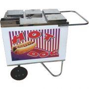 Carrinho a Gás para Hot Dog Rodas Maciças Alsa CH 1 G