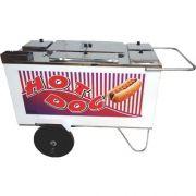 Carrinho a Gás para Hot Dog c/ Chapa Rodas Pneumáticas Alsa CH 3 P