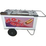 Carrinho a Gás para Hot Dog c/ Suporte p/ Sanduicheira Rodas Pneumáticas Alsa CH 4 P