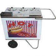 Carrinho a Gás para Hot Dog Rodas Maciças Alsa CH 2 A G