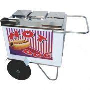 Carrinho a Gás para Hot Dog Rodas Pneumáticas Alsa CH 1 G P