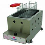 Fritadeira a Gás 1 Cuba Alta Pressão Inox 5L Progás PR-10G