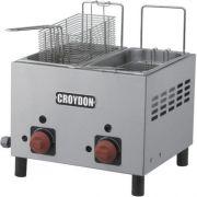 Fritadeira a Gás 2 Cubas Inox 2x3L Croydon F2AG