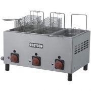 Fritadeira a Gás 3 Cubas Inox 3x3L Croydon F3AG