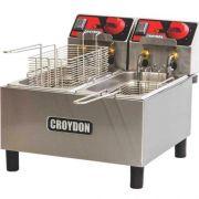 Fritadeira Elétrica 2 Cubas Inox 2x3L Croydon FC2A 127V