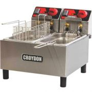 Fritadeira Elétrica 2 Cubas Inox 2x3L Croydon FC2A 220V