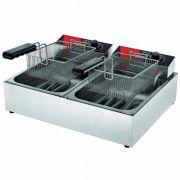 Fritadeira Elétrica 2 Cubas Inox 2x3L Metalcubas FRCE 06 220V