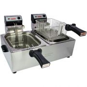 Fritadeira Elétrica 2 Cubas Inox 2x5L Cotherm 220V