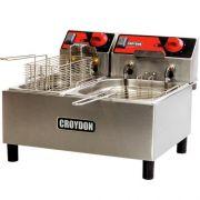 Fritadeira Elétrica 2 Cubas Inox 3L e 4,5L Croydon F1AB 220V