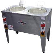 Fritadeira Elétrica Água e Óleo 2 Cubas 8000W FRP-24D - Skymsen