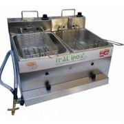 Fritadeira Flex (Elétrica e a Gás) 2 Cubas Inox 2x5L Ital Inox FOGEI-10 127V