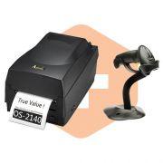 Kit Impressora OS-2140 Argox + Leitor LS2208 c/ Suporte Zebra
