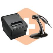 Leitor MS9520 c/ Suporte Honeywell + Impressora i9 Elgin