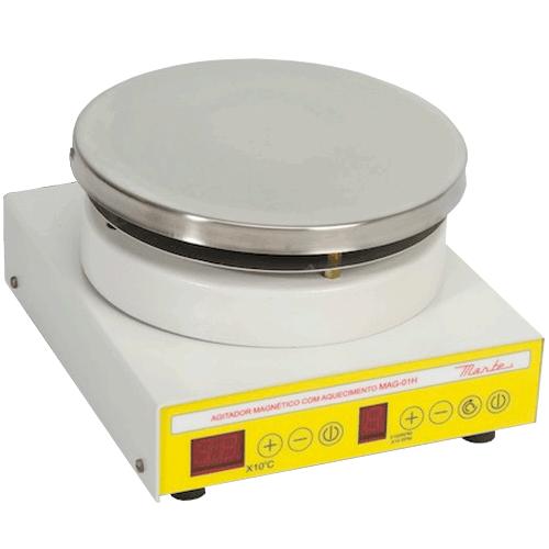 Agitador Magnético c/ Aquecimento Marte MAG-01H  - ZIP Automação