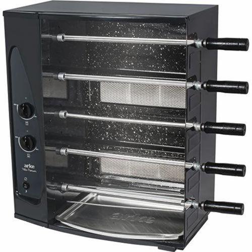 Assador de Carnes a Gás Natural Rotativo 5 Espetos Arke Vitta Premium Bivolt  - ZIP Automação