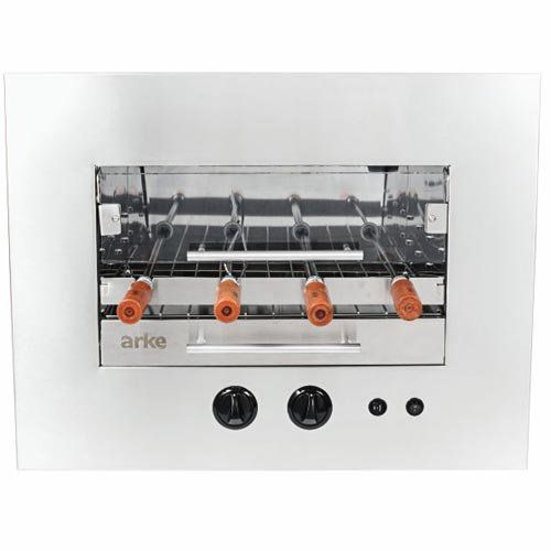 Assador de Carnes a Gás GLP Rotativo de Embutir 4 Espetos Arke Sapore Premium Bivolt  - ZIP Automação