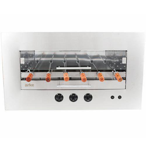 Assador de Carnes a Gás GLP Rotativo de Embutir 6 Espetos Arke Sapore Premium Bivolt  - ZIP Automação