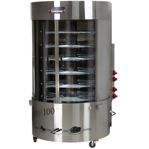 Assador de Frangos a Gás Rotativo 100kg Gastromaq ARV-100 CQC Bivolt  - ZIP Automação