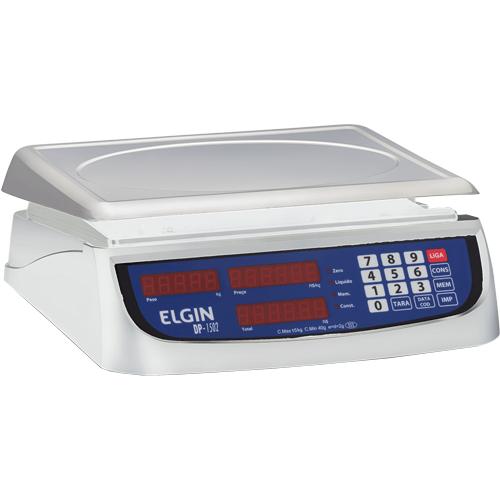 Balança Computadora Elgin DP1502 15Kg c/ Bateria INMETRO  - ZIP Automação