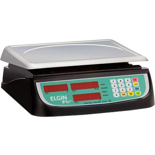 Balança Computadora Elgin DP15 Plus 15Kg c/ Bateria INMETRO  - ZIP Automação