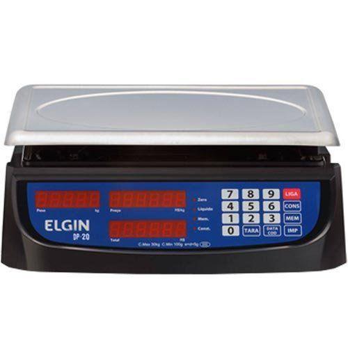 Balança Computadora Elgin DP20 20Kg c/ Bateria INMETRO  - ZIP Automação