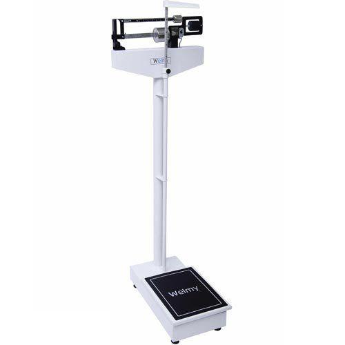 Balança Mecânica para Pesar Pessoas Welmy 110 CH 150Kg c/ Antropômetro INMETRO  - ZIP Automação