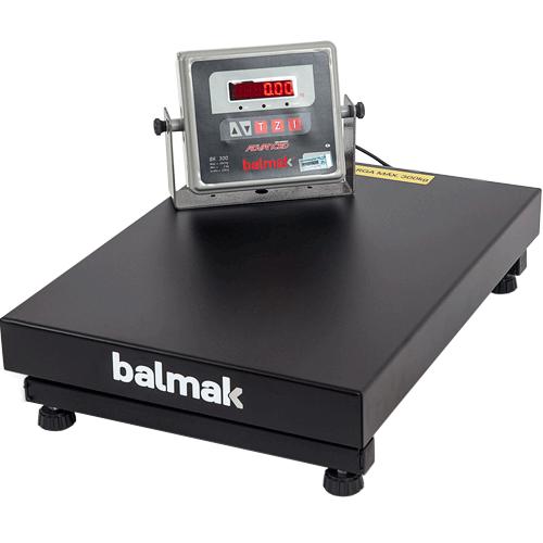 Balança Plataforma Balmak BK-300 300Kg Carbono INMETRO  - ZIP Automação