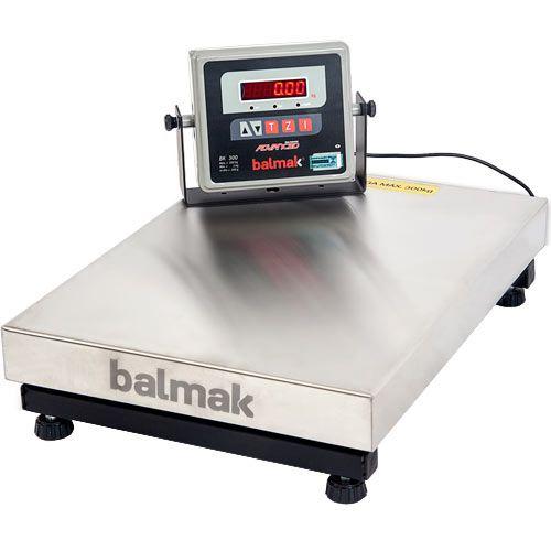 Balança Plataforma Balmak BK-300I1B 300Kg Inox c/ Bateria INMETRO  - ZIP Automação