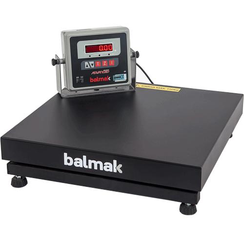 Balança Plataforma Balmak BK-300QB 300Kg Carbono c/ Bateria INMETRO  - ZIP Automação