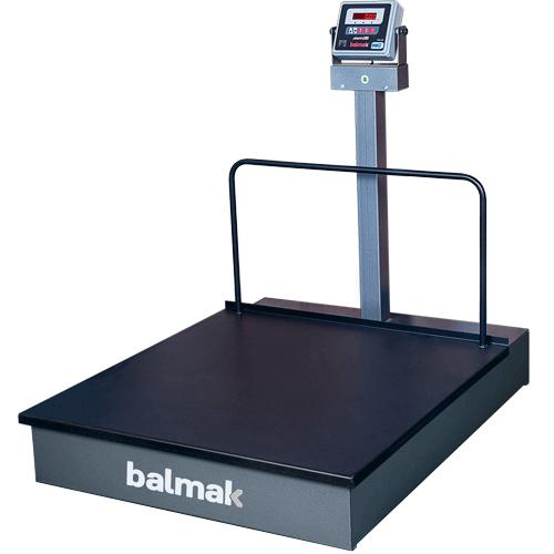 Balança Plataforma Balmak BKH-1000 1000Kg Carbono c/ Rodas INMETRO  - ZIP Automação