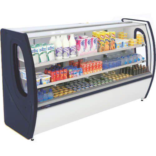 Balcão Refrigerado Premium 1,25m Vidro Semi Curvo - Polofrio  - ZIP Automação