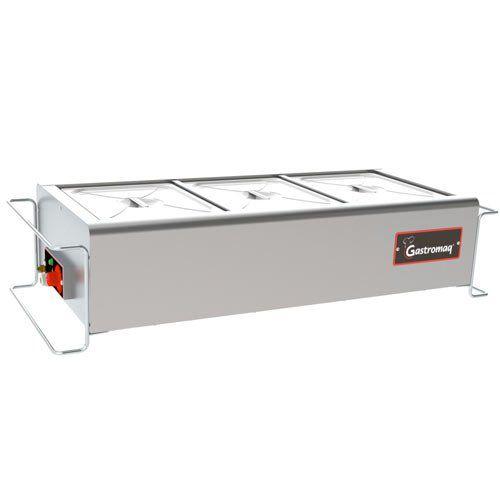 Balcão Térmico 3 Cubas de Mesa Gastromaq Standard BTME-3 ST I Bivolt  - ZIP Automação