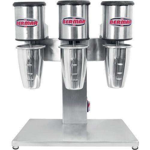 Batedor de Milk-Shake Triplo 3x0,8L Copo Alumínio Bermar BM 75 NR 220V  - ZIP Automação