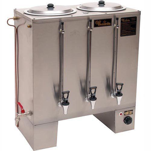 Cafeteira Industrial Retangular 2x10L Monarcha MI2 220V  - ZIP Automação