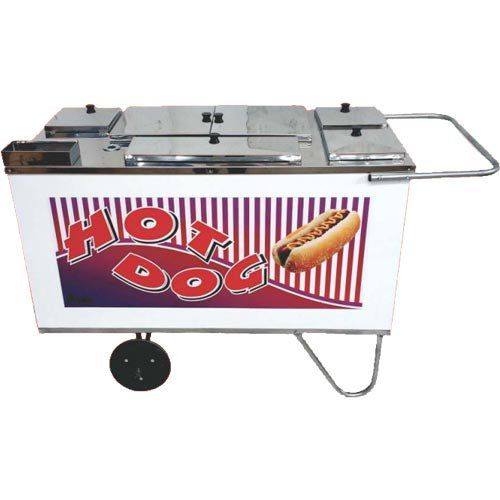 Carrinho a Gás para Hot Dog c/ Chapa Rodas Maciças Alsa CH 3  - ZIP Automação