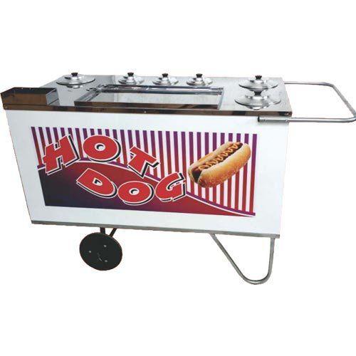 Carrinho a Gás para Hot Dog c/ Suporte p/ Sanduicheira Rodas Maciças Alsa CH 4  - ZIP Automação
