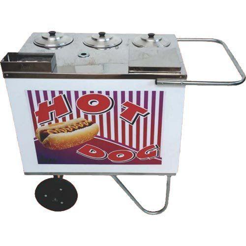 Carrinho a Gás para Hot Dog Rodas Maciças Alsa CH 2 A G  - ZIP Automação