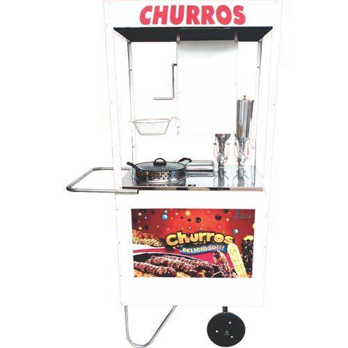 Carrinho para Churros c/ 2 Doceiras Rodas Maciças Alsa CHU 1.2  - ZIP Automação