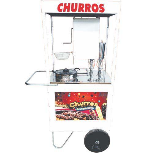Carrinho para Churros c/ 2 Doceiras Rodas Pneumáticas Alsa CHU 1.2 P  - ZIP Automação