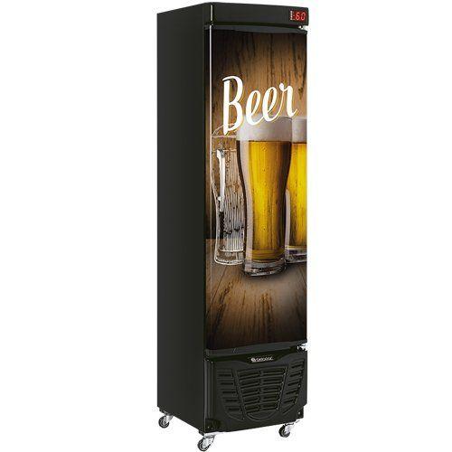 Cervejeira Vertical 230L GRBA-230E WD PR c/ Condensador - Gelopar  - ZIP Automação