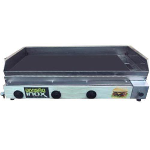 Chapa a Gás 3 Queimadores Ital Inox CBDI-880  - ZIP Automação