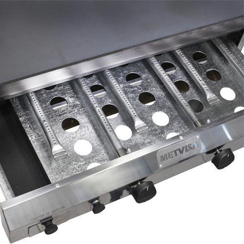 Chapa a Gás 4 Queimadores c/ Prensa Leve Metvisa CFGPL.10  - ZIP Automação