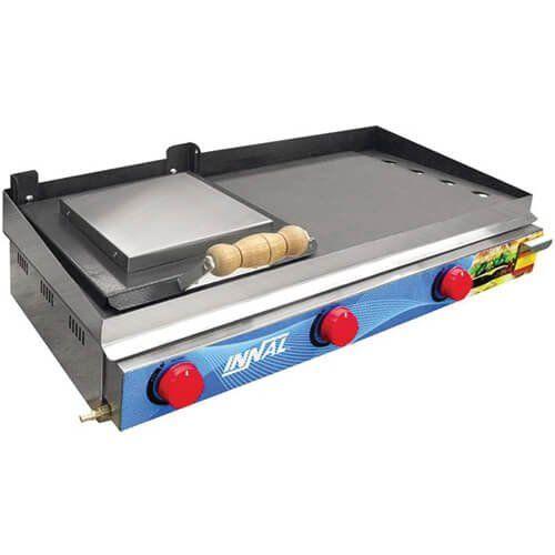 Chapa Bifeteira Standard 3 Queimadores CBS3Q - Innal  - ZIP Automação