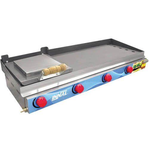 Chapa Bifeteira Standard 4 Queimadores CBS4Q - Innal  - ZIP Automação
