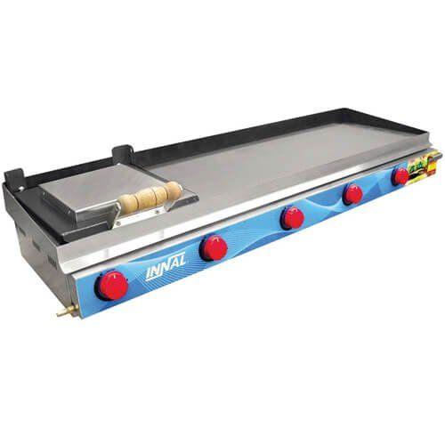 Chapa Bifeteira Standard 5 Queimadores CBS5Q - Innal  - ZIP Automação