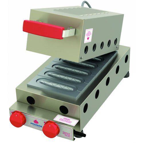 Crepeira a Gás p/ Crepe Suíço 6 Cavidades Progás PRK-60G Style  - ZIP Automação