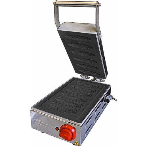 Crepeira Elétrica Antiaderente p/ Crepe Suíço 6 Cavidades Cotherm 127V  - ZIP Automação