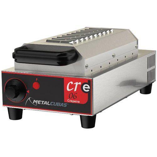 Crepeira Elétrica Antiaderente p/ Crepe Suíço 6 Cavidades Metalcubas CRE 06 T 127V  - ZIP Automação