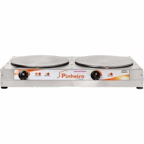Crepeira Elétrica Dupla p/ Crepe Francês Pinheiro PK-KF2T 220V  - ZIP Automação